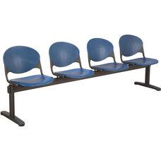 2000 Series Beam Seating with 4 Polypropylene Seats