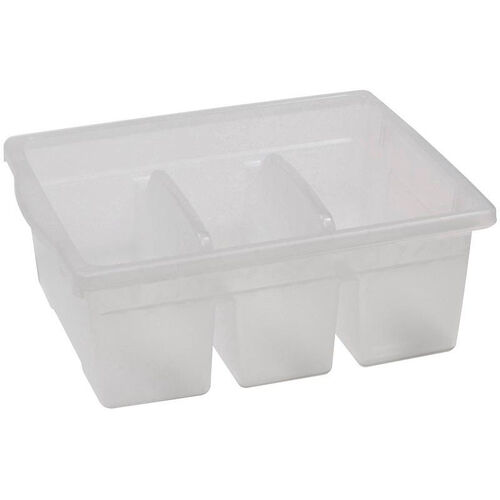 Our Royal Large Divided Environmentally Friendly Tough Plastic Tub - Clear - 15.63