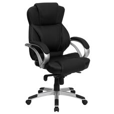 High Back Black LeatherSoft Contemporary Executive Swivel Ergonomic Office Chair