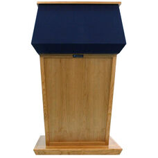 Patriot Solid Hardwood Non-Sound Lectern with Four Hidden Casters - Oak Finish - 31