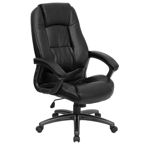 Our High Back Black LeatherSoft Executive Swivel Ergonomic Office Chair with Deep Curved Lumbar and Arms is on sale now.