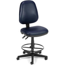 Straton Series Anti-Microbial and Anti-Bacterial Vinyl Task Chair with Drafting Kit - Navy