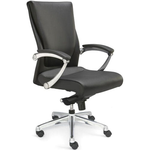Our Luxo Conference Chair with LeatherSoft Upholstery - Black is on sale now.