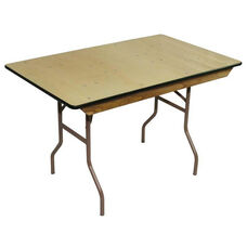 8' Reliant Standard Series Folding Table with Non Marring Floor Glides - 48''W x 96''L x 30'' H