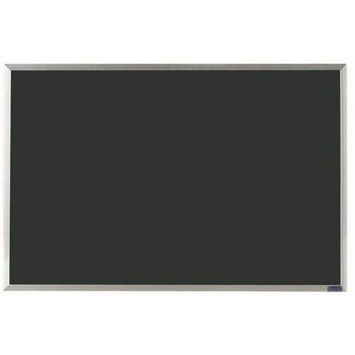 Our Economy Series Black Composition Chalkboard with Aluminum Frame - 24