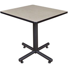 Kobe 30'' Square Laminate Breakroom Table with PVC Edge - Maple