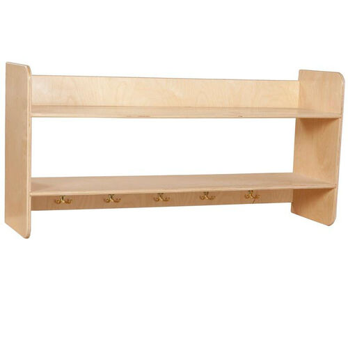 Our Wall Mountable Storage Shelf Unit with 5 Double Hooks - Assembled - 48