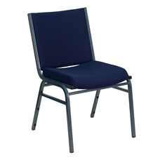 HERCULES Series Heavy Duty Navy Blue Dot Fabric Stack Chair