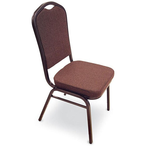 Our Superb Seating Heavy-Duty Steel Frame Fabric Upholstered Stacking Chair - Espresso is on sale now.