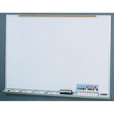 Quick Ship LCS Deluxe Markerboard with Marker Tray and Map Rail