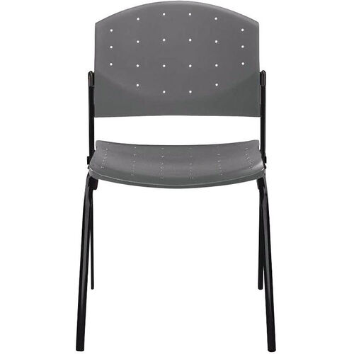 Eddy 4-Post Black Stack Side Chair