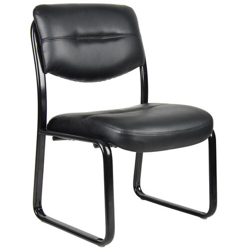 Our LeatherPlus Sled Base Side Chair without Arms - Black is on sale now.