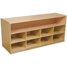Wooden Mobile Low Storage Unit - 48