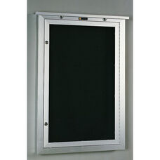 548 Series Outdoor Directory Cabinet with 1 Locking Tempered Glass Door - 18