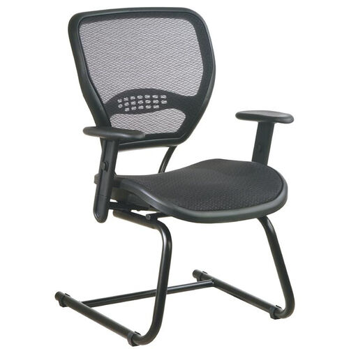 Our Space Air Grid Back and Seat Visitors Chair with Adjustable Arms and Sled Base - Black is on sale now.