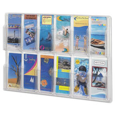 Safco® Reveal Clear Literature Displays - 12 Compartments - 30 w x 2d x 20 1/4h - Clear