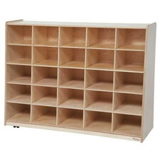 Tip-Me-Not 25 Tray Storage Unit with Mobility Casters - Assembled - 48