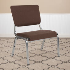 HERCULES Series 1500 lb. Rated Brown Antimicrobial Fabric Bariatric Antimicrobial Medical Reception Chair with 3/4 Panel Back