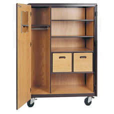 Mobile Teachers Storage Cabinet w/2 File Drawers