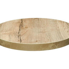 Marco 24'' Round Melamine Table Top - Natural Oak