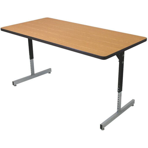 Our Rectangle Shaped Activity Table with Adjustable Pedestal Legs - 30