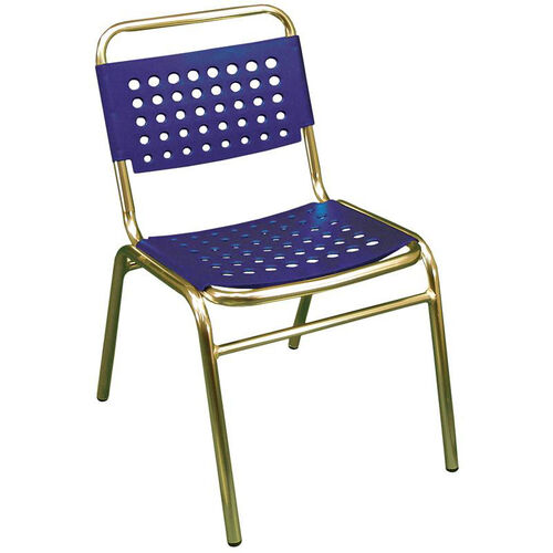 Our South Beach Hand Polished Tubular Aluminum Stackable Side Chair - Blue is on sale now.