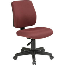 Work Smart Deluxe Upholstered Fabric Task Chair with Ratchet Back Height Adjustment