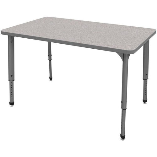 Apex Series Height Adjustable Rectangular Activity Table - Gray Nebula Top with Gray Edge and Legs - 48