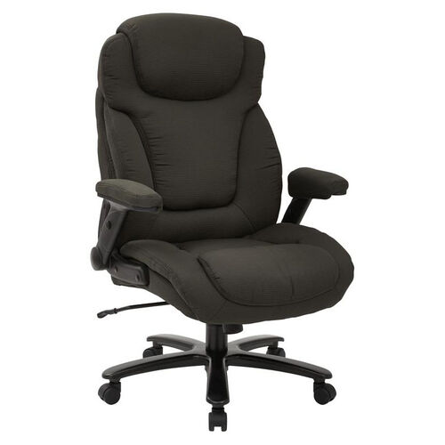 Our Pro-Line II Big and Tall Deluxe High Back Fabric Executive Office Chair with Padded Flip Arms - 400 lb. Weight Capacity - Charcoal is on sale now.