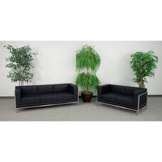 HERCULES Imagination Series Black LeatherSoft Sofa & Loveseat Set