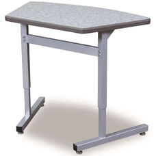 Une-T Echo Connect 8 Adjustable Height Desk with Beveled Lotz Armor Edge Top - 35