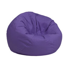 Small Solid Purple Kids Bean Bag Chair