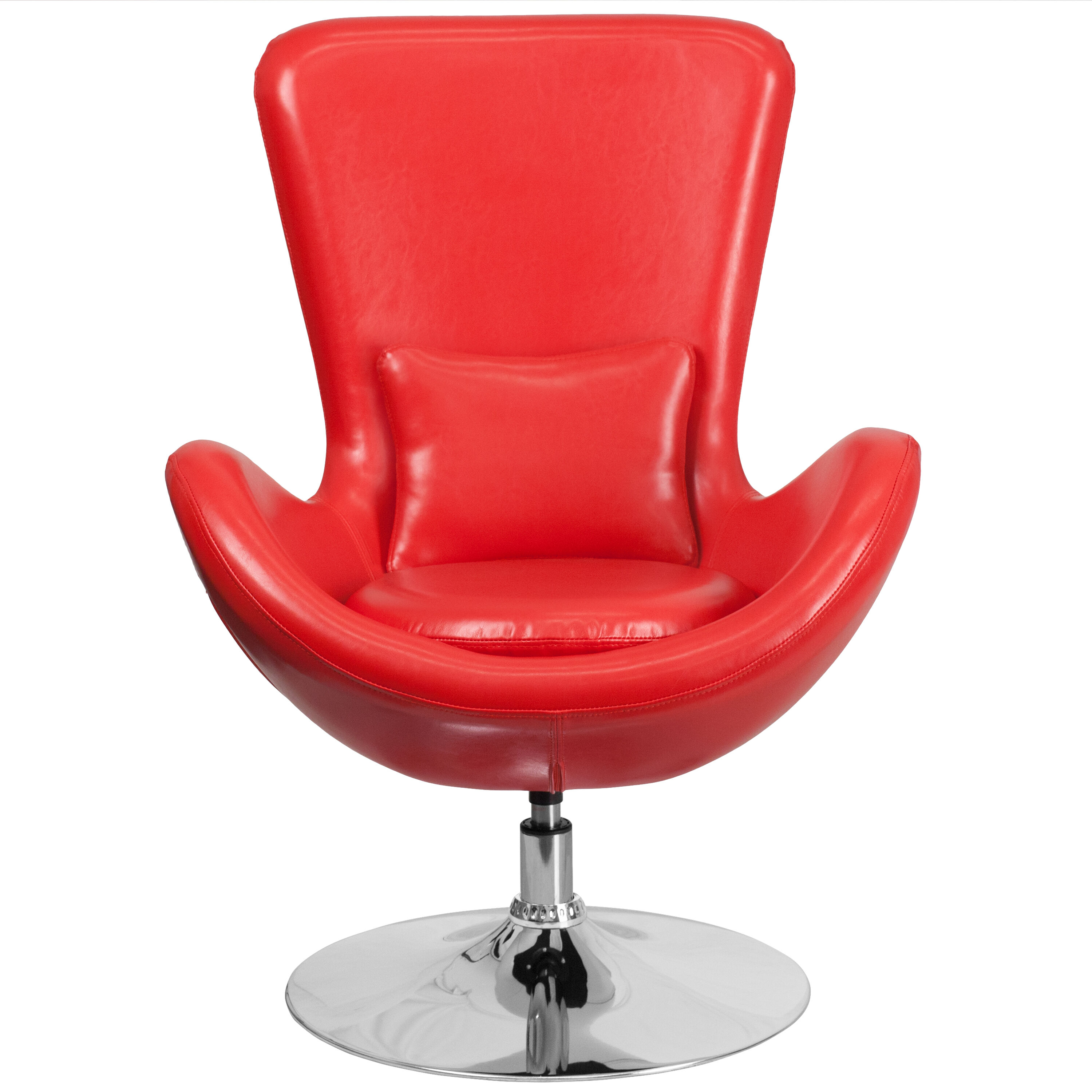 Merveilleux Our Egg Series Red Leather Side Reception Chair Is On Sale Now.