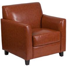 HERCULES Diplomat Series Cognac Leather Chair