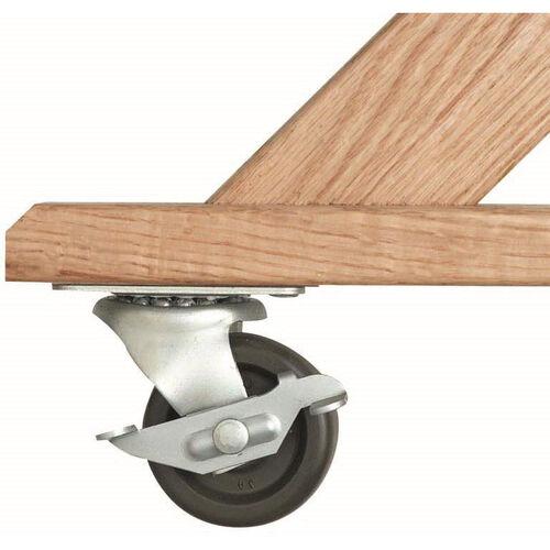 Rubber Non-Skid Swivel Casters - 2 Locking and 2 Non-Locking