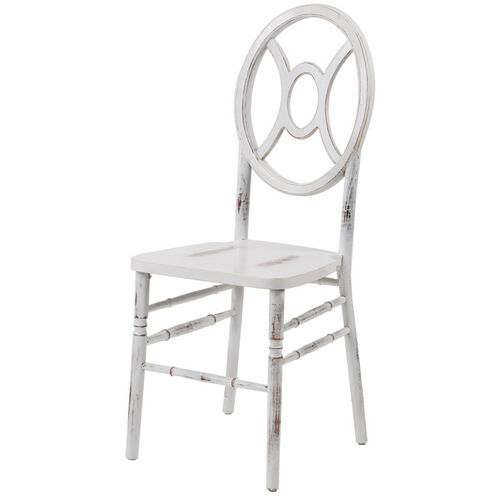Veronique Series Stackable Twin Wood Dining Chair - Lime White Wash