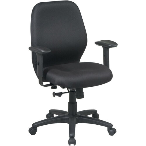 Our Work Smart Mid Back 2-to-1 Synchro Tilt Managers Chair with 2 -Way Adjustable Soft Padded Arms is on sale now.