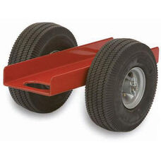 Heavy Duty Steel Frame Caddy with 6.125'' Channel and Airless Rubber Tires