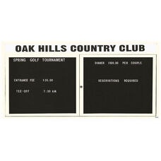 2 Door Indoor Enclosed Directory Board with Header and White Anodized Aluminum Frame - 36