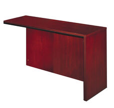 Corsica Right Hand Reception Counter Return with Modesty Panel - Sierra Cherry on Cherry Veneer