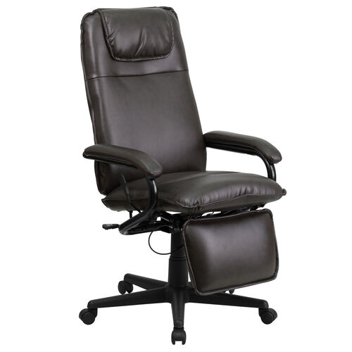 Our High Back Brown Leather Executive Reclining Ergonomic Swivel Office Chair with Arms is on sale now.
