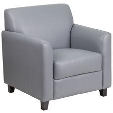 HERCULES Diplomat Series Gray Leather Chair