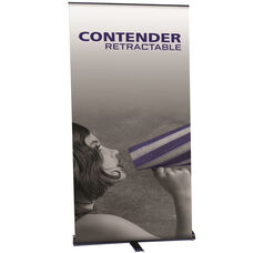 Contender Retractable Banner Stand in Black Finish 48