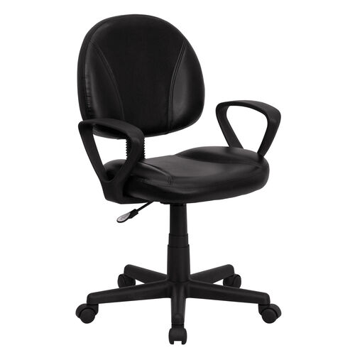 Our Mid-Back Black LeatherSoft Swivel Ergonomic Task Office Chair with Back Depth Adjustment and Arms is on sale now.