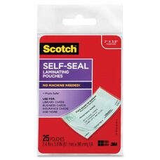 3M Self-Sealing Laminating Business Card Pouches - Pack Of 25