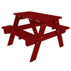 POLYWOOD® Kids Collection Picnic Table - Vibrant Sunset Red