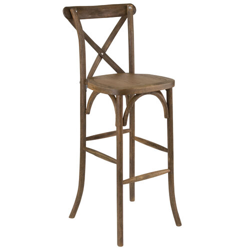 Our HERCULES Series Dark Antique Wood Cross Back Barstool is on sale now.