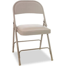 Alera® Steel Folding Chair with Padded Seat - Tan - 4/Carton