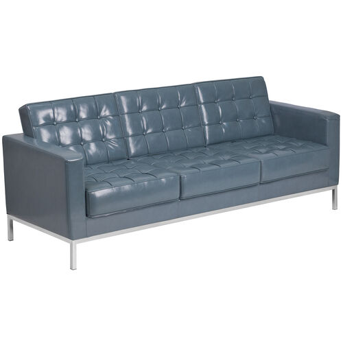 Our HERCULES Lacey Series Contemporary Gray Leather Sofa with Stainless Steel Frame is on sale now.