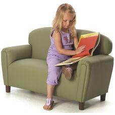 Just Like Home Enviro-Child Preschool Size Sofa - Sage - 38
